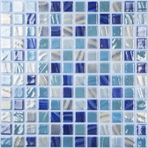 "CLOUD MIX • Mixes Collection by Vidrepur • Recycled Mosaic 1"" x 1"" Glass Tiles"