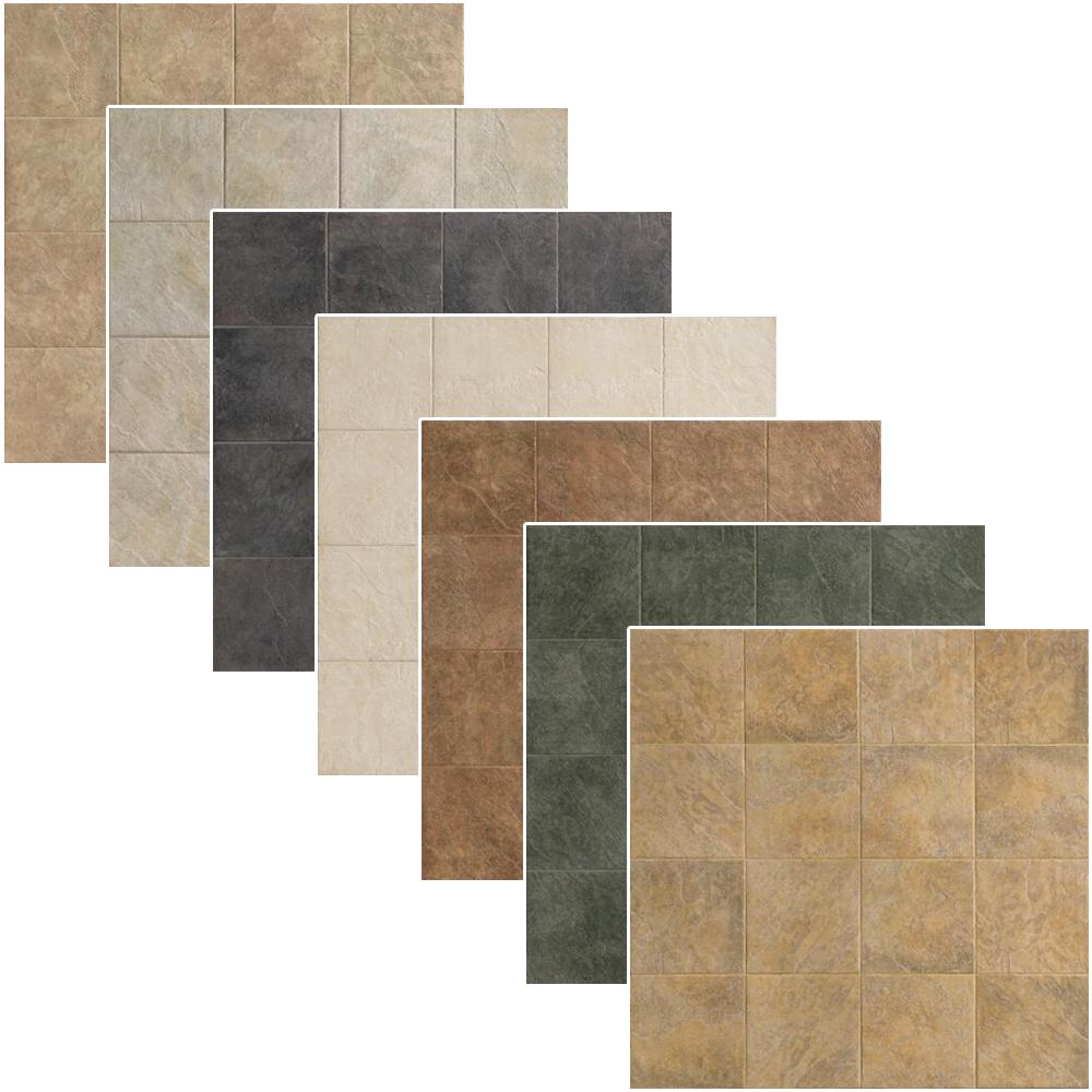 "Riverstone Tile 13"" x 13"" | Ragno USA Porcelain Tiles | Brazos BG Beige, Canadian GR Grigio, Fuerte NE Nero, Pecos BI Bianco, Rio Bravo MT Multi Color, Rio Grande VE Verde, Yampa GI Giallo"