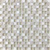 "Creme Brulee • Bliss Collection by Anatolia Tile & Stone • 5/8"" x 5/8"" • Glass Stone Blend Mosaics"