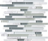 Iceland • Bliss Collection by Anatolia Tile & Stone • Staggered • Glass Stone Linear Blend Mosaics