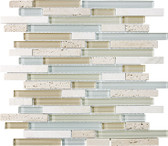 Spa • Bliss Collection by Anatolia Tile & Stone • Staggered • Glass Stone Linear Blend Mosaics