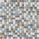 "Amber Tea • Bliss Collection by Anatolia Tile & Stone • 5/8"" x 5/8"" • Glass Slate Quartz Blend Mosaics"