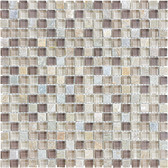 "Cotton Wood • Bliss Collection by Anatolia Tile & Stone • 5/8"" x 5/8"" • Glass Slate Quartz Blend Mosaics"
