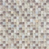 "Cotton Wood • Bliss Collection by Anatolia Tile & Stone • 5/8"" x 5/8"" • Glass Slate Quartz Blend Mosaics"