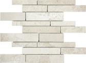 Berkshire Crema Marble Polished | 5/8 Random Strip Mosaic Tile