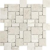 Berkshire Crema Marble Polished | Mini Versailles Mosaic Tile