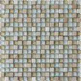 "Travertino Mix Cream • Stone Medley Collection by Lungarno Ceramics • 5/8"" x 5/8"" • Glass & Stone Mosaic Tiles"
