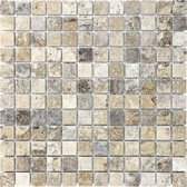 Picasso Travertine Honed & Filled | 1X1 Mosaic Tile