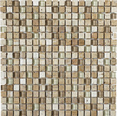 "Luce • Stone Medley Collection by Lungarno * 5/8"" x 5/8"" • Glass & Stone Mosaic Tiles"