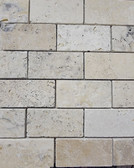 Picasso Travertine Tumbled | 2X4 Mosaic Tile