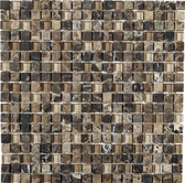"Scuro • Stone Medley Collection by Lungarno • 5/8"" x 5/8"" • Glass & Stone Mosaic Tiles"