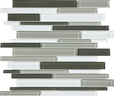 Mineral Blend Random Strip Mosaics - Bliss Elements Collection