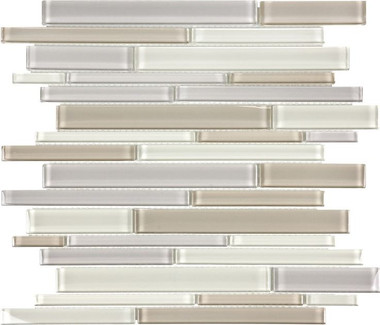 Bliss Elements -- Natural Blend Random Strip Mosaics