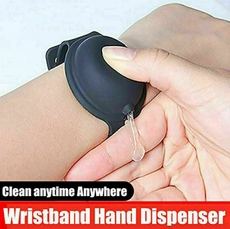 Silicone Hand Bracelet / Wristband Hand Gel Dispenser Squeeze Bottle Uk