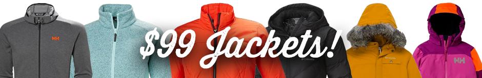 $99 Jacket Sale starts today.