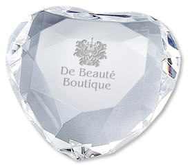 Optical Crystal Heart Paperweight 4262-42