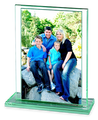 Grafton Vertical jade glass photo frame 4 x 6, 4288-45