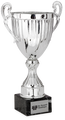 Rialta silver metal cup on black marble base, 3704-13