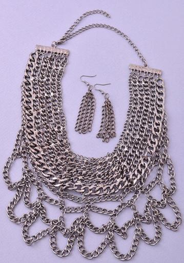 Audri Chain Stack Bib Necklace
