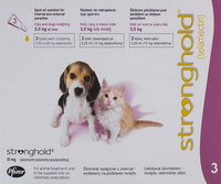 Stronghold Pink Kittens and Puppies under 5lbs (2.5kg) - 3 Pack