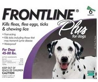 Frontline Plus For Dogs - Large Dog (45-88 lbs) (20-40 kg) 3-Pk