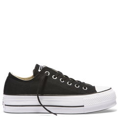 Converse Chuck Taylor All Star Lift Low Top Black - Black/Garnet/White
