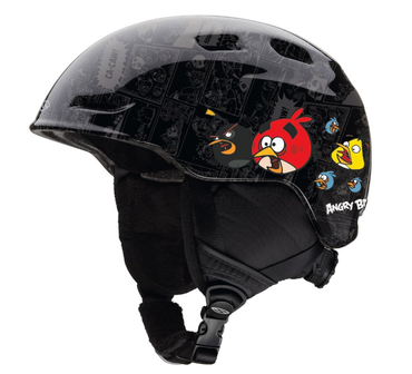 2015 Smith Optics Zoom Jr Helmet - Black Angry Bird