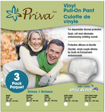 Priva Waterproof Vinyl Pull on Pants