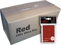 Bulk Ultra Pro Red Sleeves 600ct