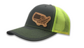 American Lineman Leather Patch Hat 5 Choices (Snap Back)