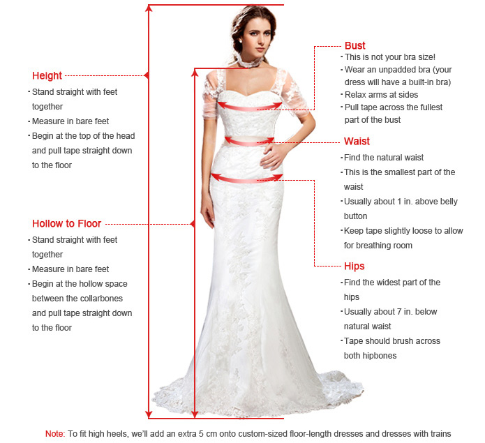 Dresses sizing for What does hollow to floor mean