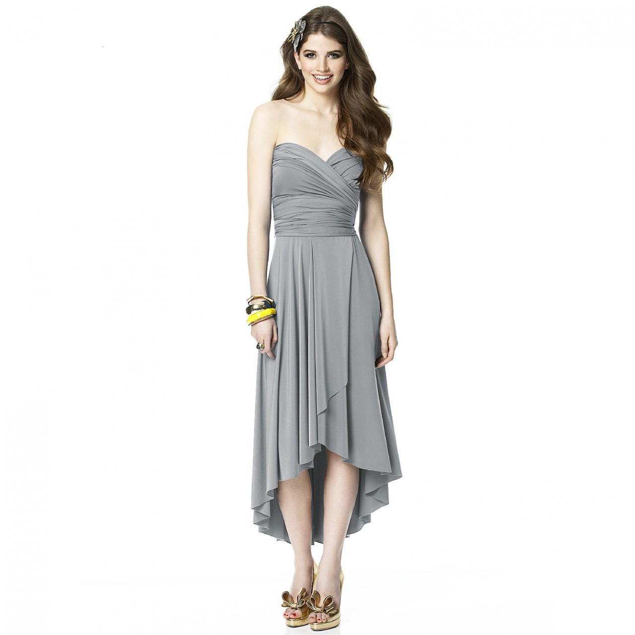 Alyse The Twist Convertible Dress With Faux Wrap Skirt