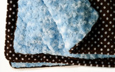 Light Blue & Polka Dots Baby Blanket