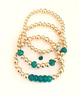 14 kt. Gold filled with Jade