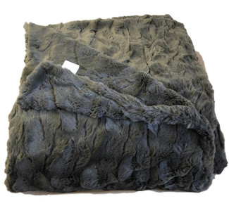 Charcoal Luxe Throw