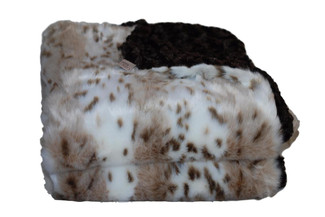 Long Haired Snow Leopard - Chocolate Throw