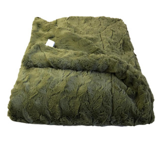 Olive Luxe Throw