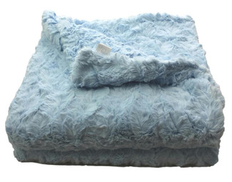 Light Blue Luxe Throw