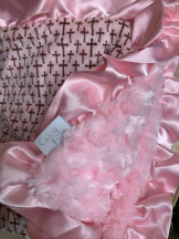 Blessed Blanket.  Minky, ruffles, soft, cozy, baby, baby coutore, luxurious,  comforting, snuggly, baby gift, little ones, get cozy!