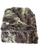 Moderne Charcoal Faux Fur Throw