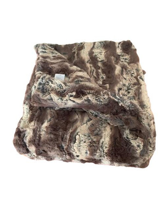 Moderne Chocolate Luxe Faux Fur Throw