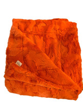 Orange Luxe Faux Fur Throw-Blanket