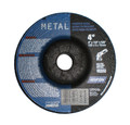 "Norton Grinding Wheels 4"" x 1/4"" x 5/8"" Depressed Center - Metal (25 Pack)"
