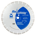"Blue Lightning Diamond Saw Blades 14"" x .125 x 1"", 20mm DPH - Turbo Segmented"