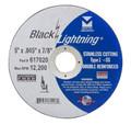 """Mercer Black Lightning 5"""" x .045 x 7/8"""" - Stainless Steel (Pack of 25)"""