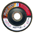 "Mercer Aluminum Oxide Flap Disc 4 1/2"" x 7/8"" 80grit Standard - T29 (Pack of 10)"