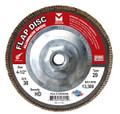 "Mercer Aluminum Oxide Flap Disc 4-1/2"" x 5/8""-11 120grit HD - T29 (Pack of 10)"
