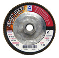 "Mercer Aluminum Oxide Flap Disc 4-1/2"" x 5/8""-11 60grit Standard - T29 (Pack of 10)"