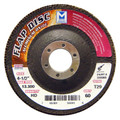 "Mercer Aluminum Oxide Flap Disc 4-1/2"" x 7/8"" 120grit High Density - T27 (Pack of 10)"