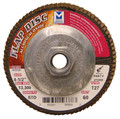 "Mercer Aluminum Oxide Flap Disc 4-1/2"" x 5/8""-11 40grit Standard - T27 (Pack of 10)"